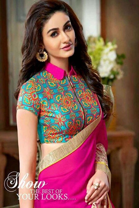 Different Types Of Blouse With Sarees Simple Craft Ideas