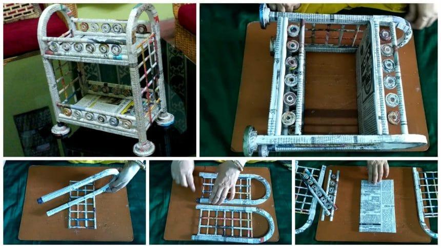 How to make a cardboard rack