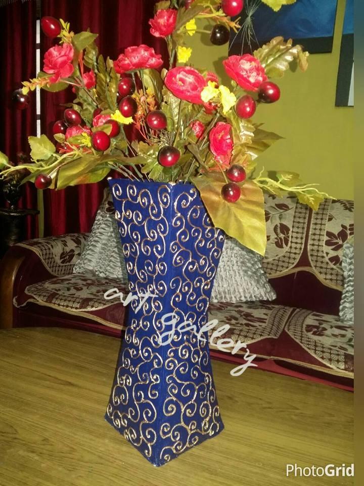 Flower Vase Using Cardboard Flowers Healthy