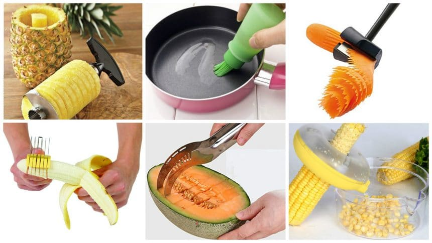 Different types of kitchen tools