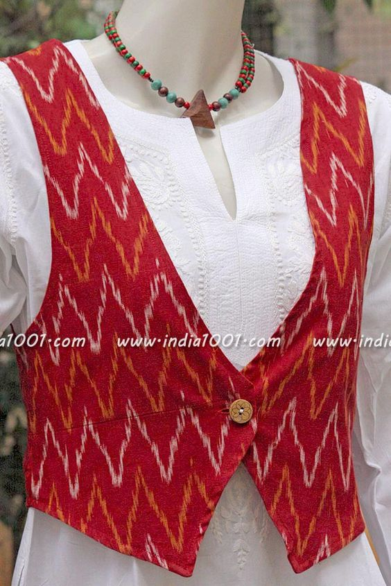 Different types of jacket style kurtis designs
