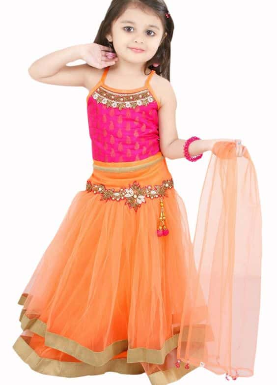 Different types of kids lehengas | Simple Craft Ideas