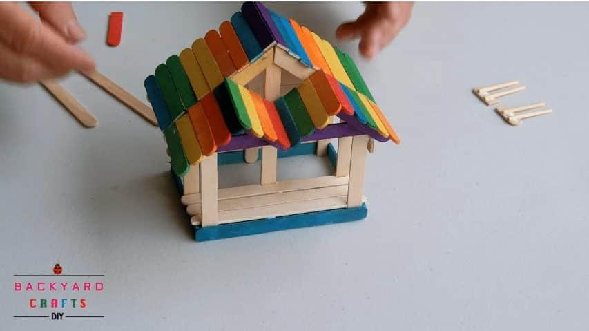 How To Make A Pop Stick House Simple Craft Ideas