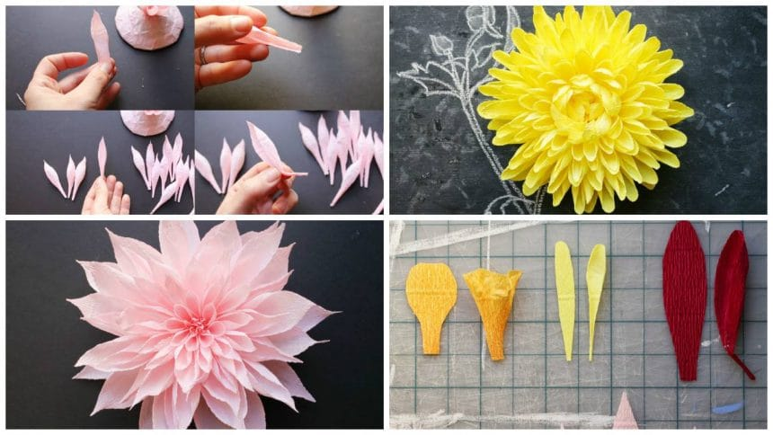 How to make crape paper flower