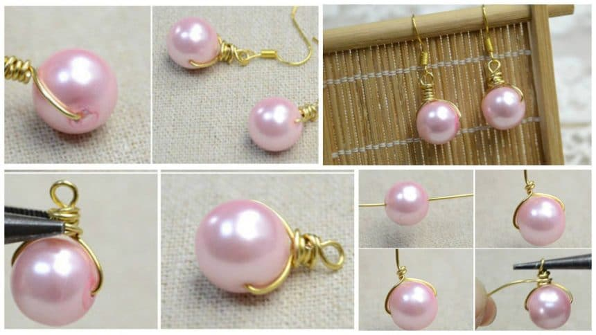How to make pearl drop earrings