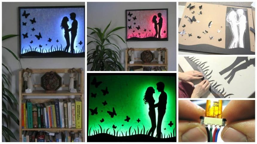 How to make LED silhouette colour changing art