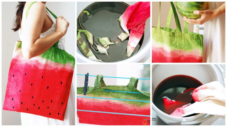 How to make watermelon bag
