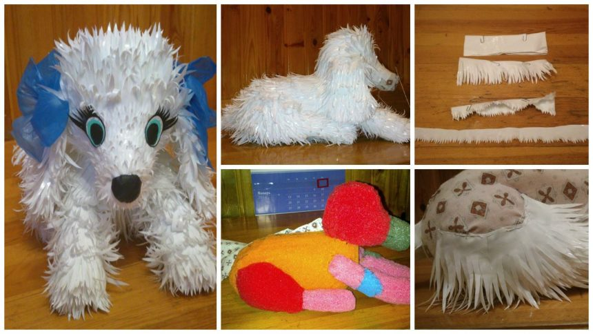 How to make dog from plastic bags