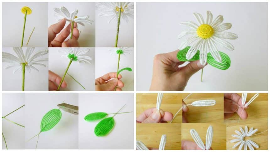 How to make daisies from bead