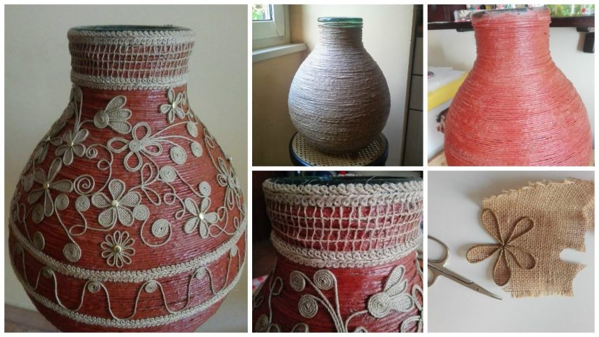 How to carboy decorated with rope