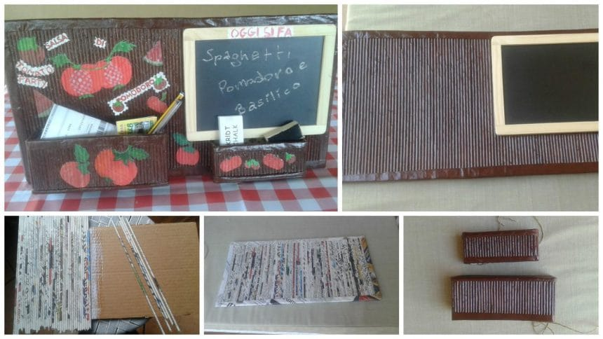 How to make panel with kitchen blackboard