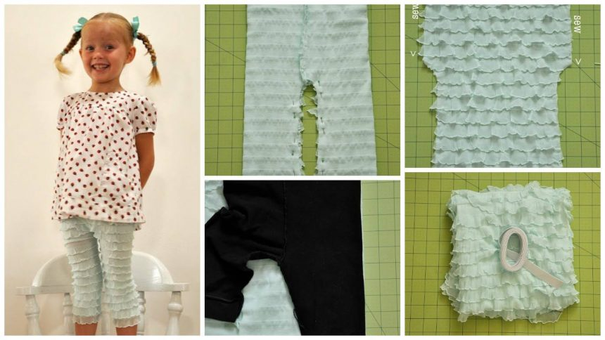 How to sew a ruffled bloomer