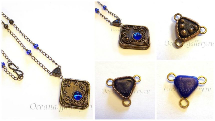 """How to make pendants in the technique of """"filigree"""""""