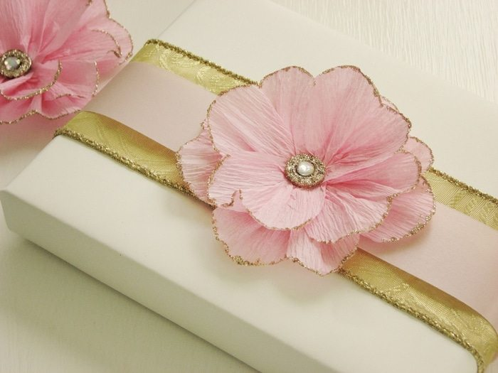 delicate flower of crepe paper