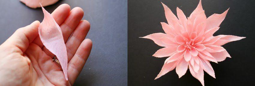 crape paper flower