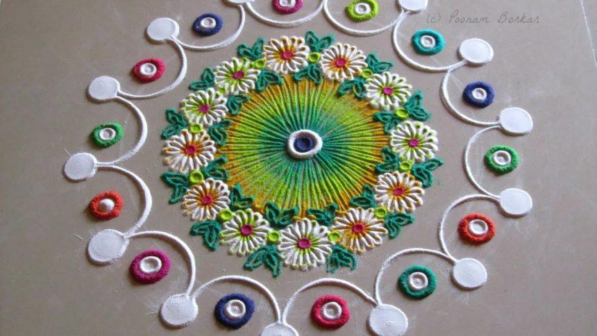 Small And Quick Rangoli Design Simple Craft Ideas