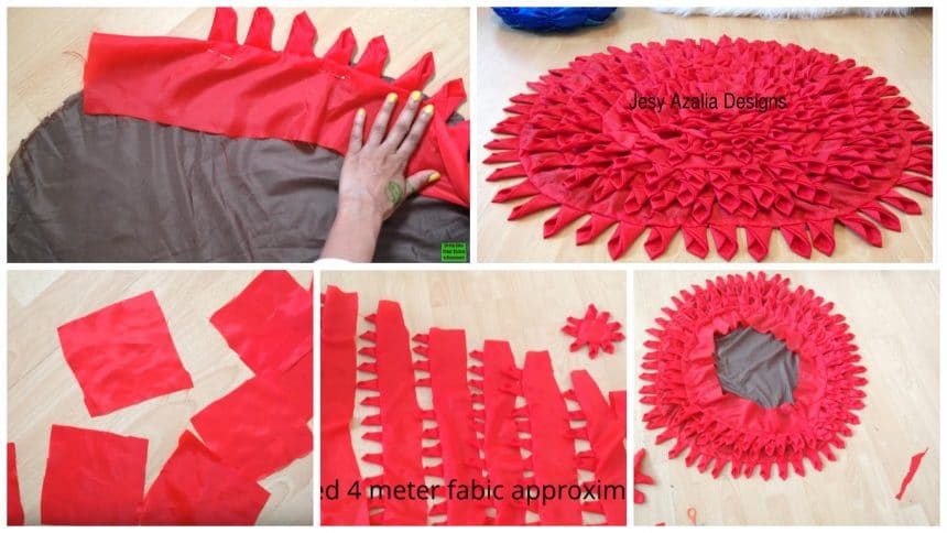 How to make floor mat using old cloth
