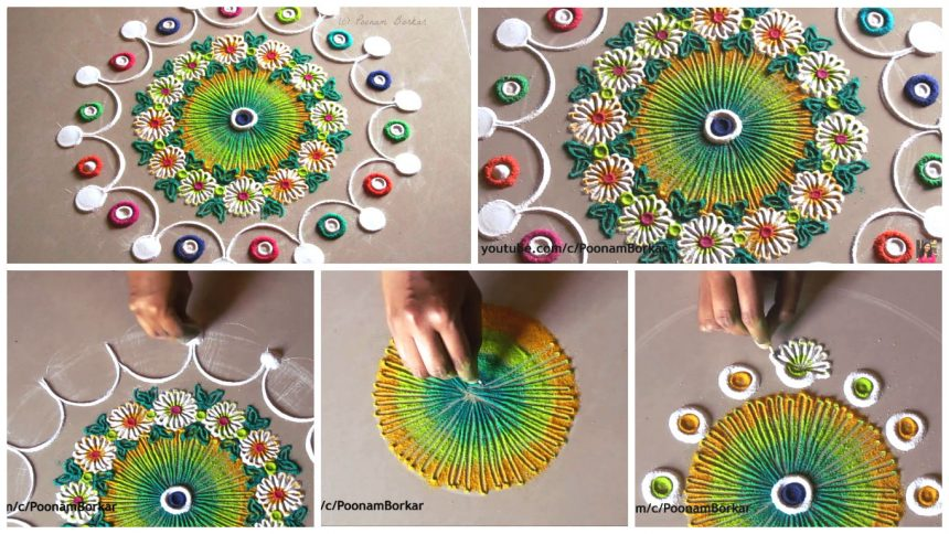 Small and quick rangoli design