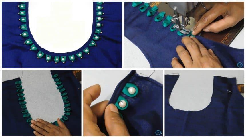 Easy and quick kurta neck design