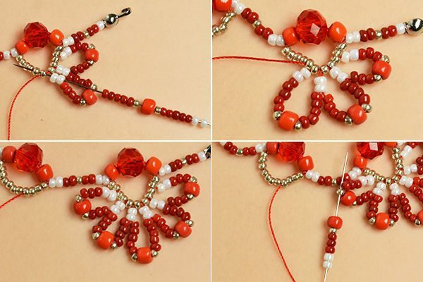 red flower choker necklace