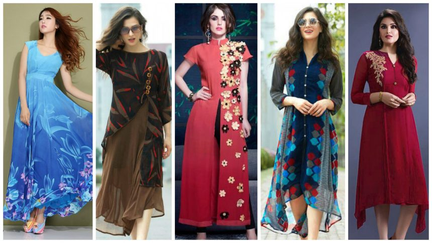 Different types of georgette kurti