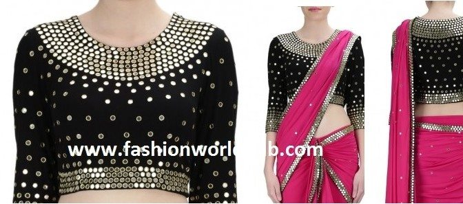 Mirror Work Embroidery Designs For Blouse And Kurtis Simple Craft