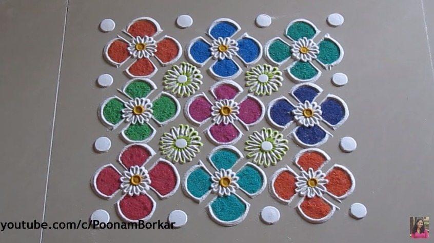 Easy And Quick Rangoli Design Simple Craft Ideas