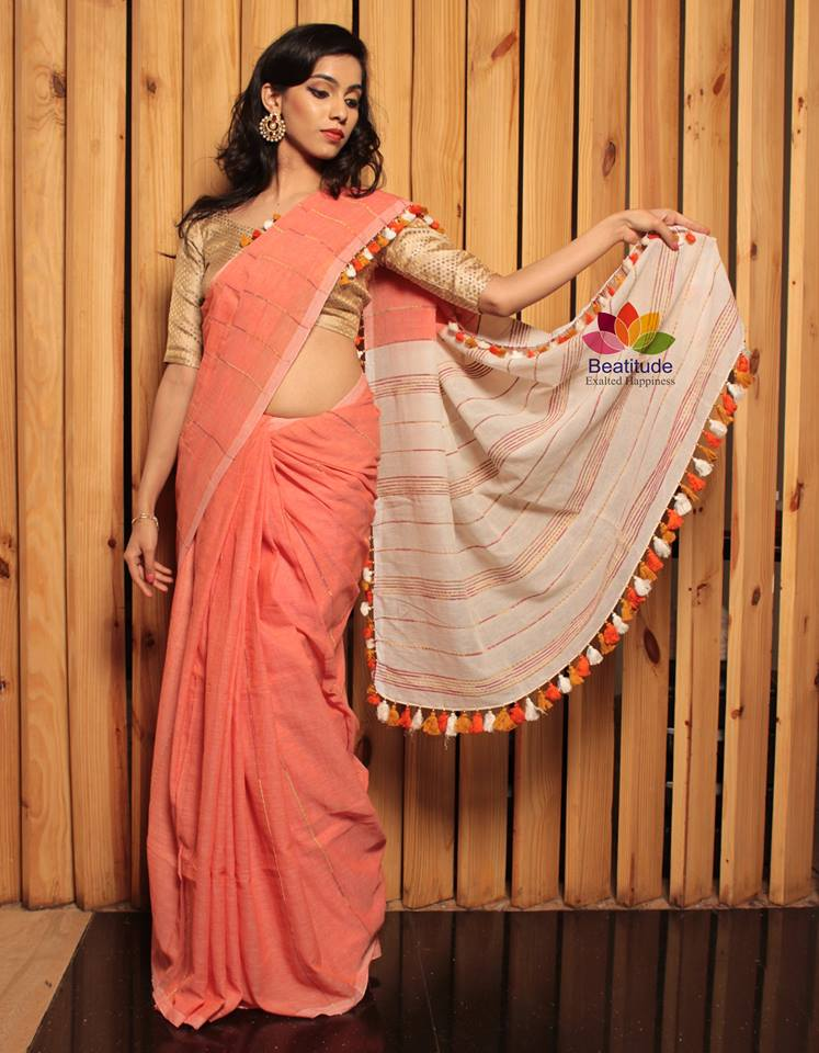 How To Make Tassel Decorated Saree Simple Craft Ideas