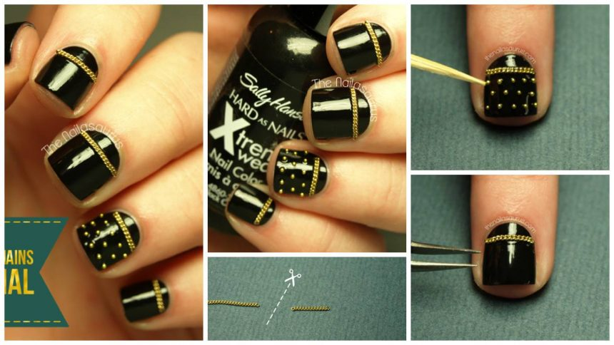 Heavy metal pop nail art