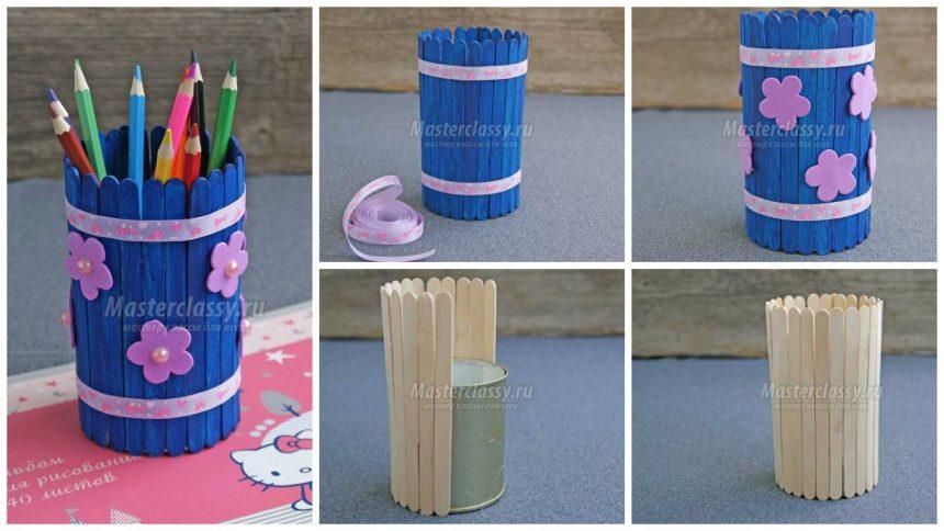 How to make wooden sticks pencil holder