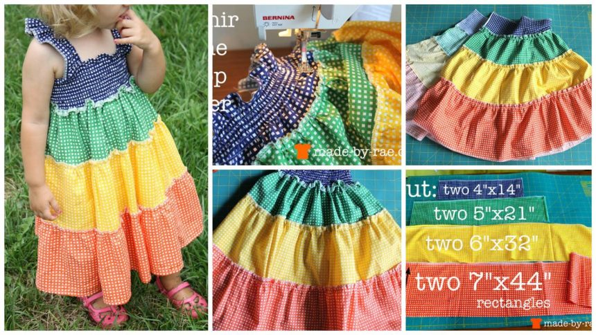 How to sew a rainbow dress