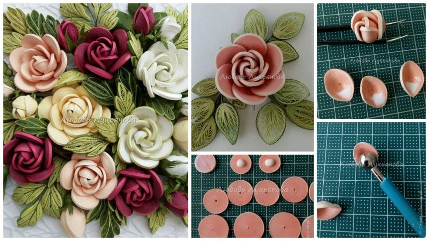 How to make a quilling rose