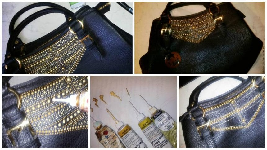 How to make spot painted leather bag