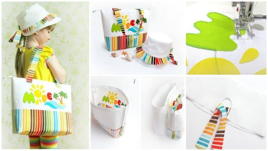 How to make beach bag and panama for girls