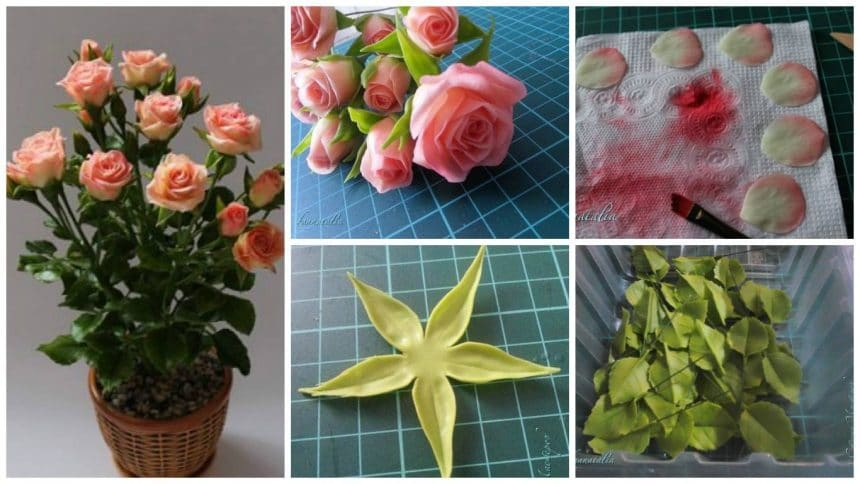 How to make rose flower