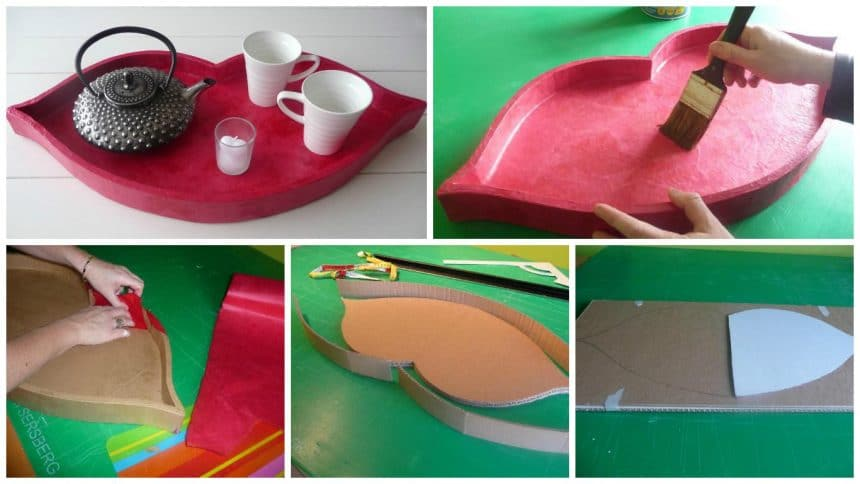 How to make mouth shape tray