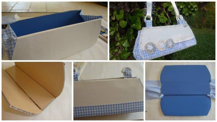 How to make handbag from cardboard