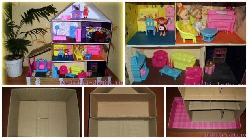 How to make a house for dolls