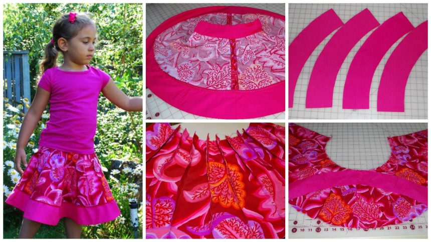 How to sew a origami fan skirt