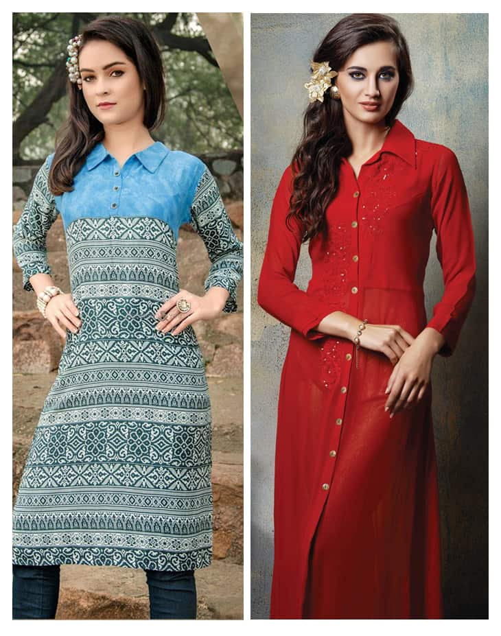 Stand Collar Designs For Kurti : New kurti neck designs simple craft ideas