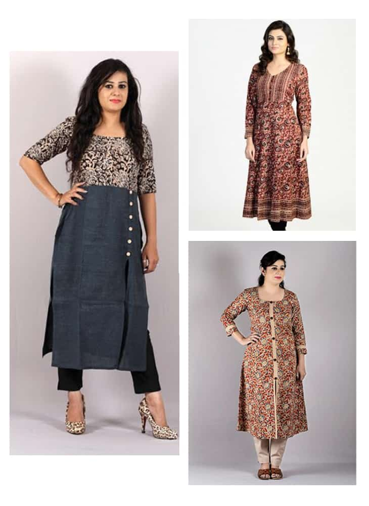 17 Fabulously kalamkari kurti designs for women | Simple