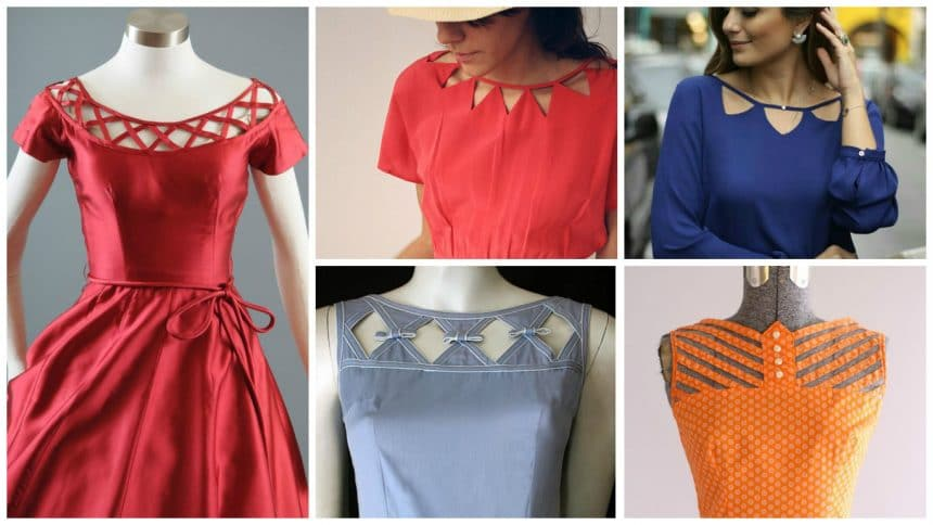 Different types of frock neck designs