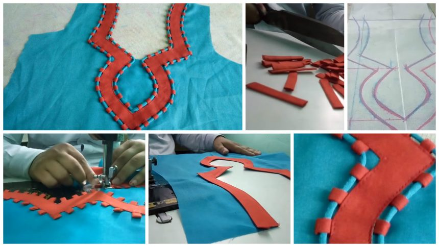 How to sew piping neck