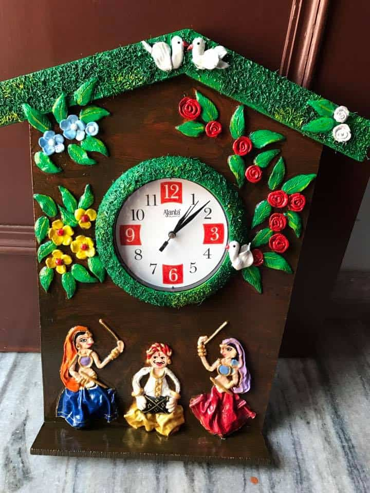 how to make rajasthani people wall clock