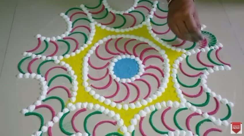 Beautiful And Big Tricky Rangoli Design Simple Craft Ideas
