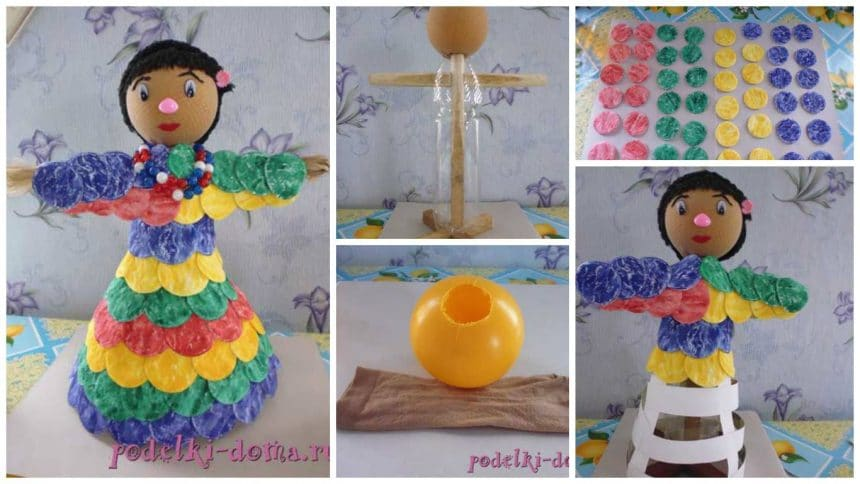 How to make a doll from plastic bottle