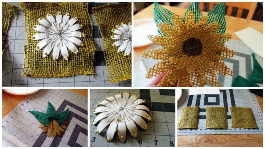 How to make burlap sunflower