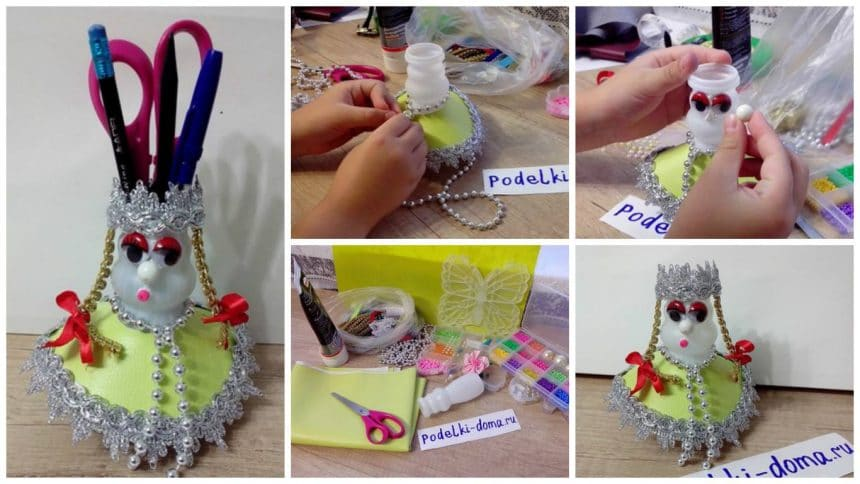 How to make a doll pencil holder