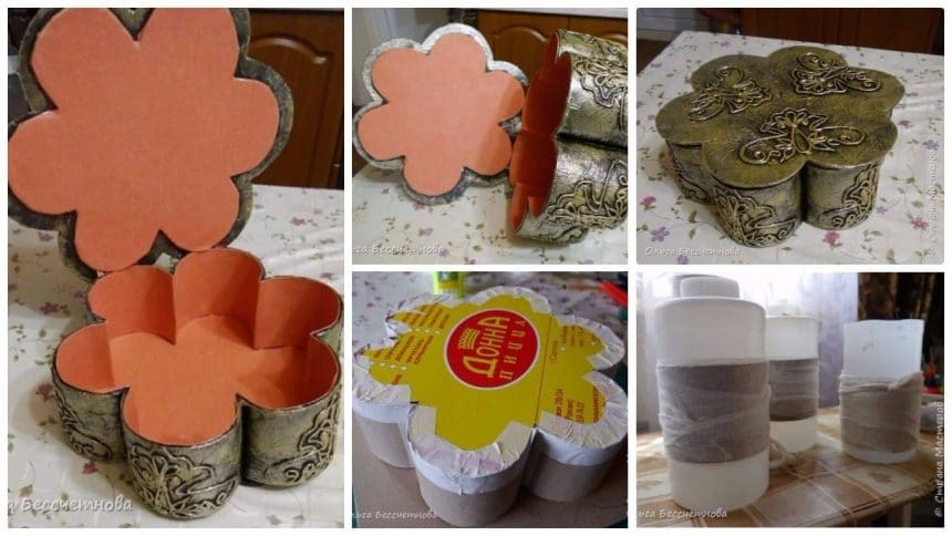 How to make flower shape jewellery box