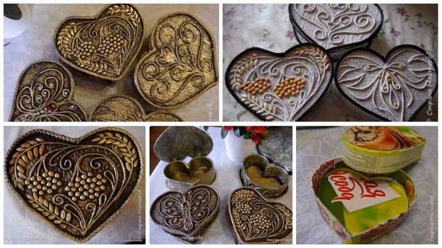 How to make love shape jewellery box